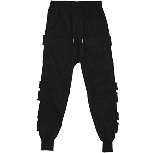 Sixth June Herren Cargo Pants Lässige Hose, Noir, Extra Large