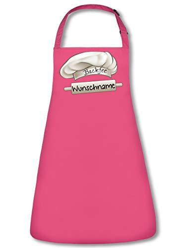 Backfee Wunschname Schürze personalisierte Kochschürze mit Name Backschürze Küchenschürze Latzschürze Grillschürze Spruch lustig witzige Geschenke Mama Damen Frauen Pink