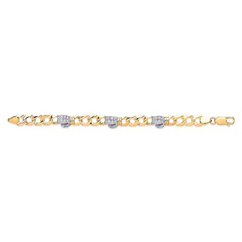 9 ct Gelb Gold Baby CZ Boxhandschuh Armband 8,0 g