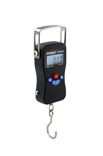 Truweigh - FORCE Digital Hanging Scale - (110lb x 0.5lb - Black) - Fishing Scale - Archery Scale - Travel Scale - Luggage Scale - Scale With Measuring Tape - Fishing Accessories - Travel Accessories