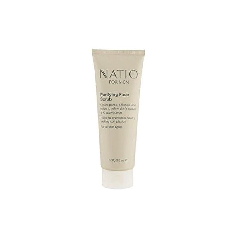 木曜日百万たとえNatio For Men Purifying Face Scrub (100G) (Pack of 6) - フェイススクラブを精製する男性のための(100グラム) x6 [並行輸入品]