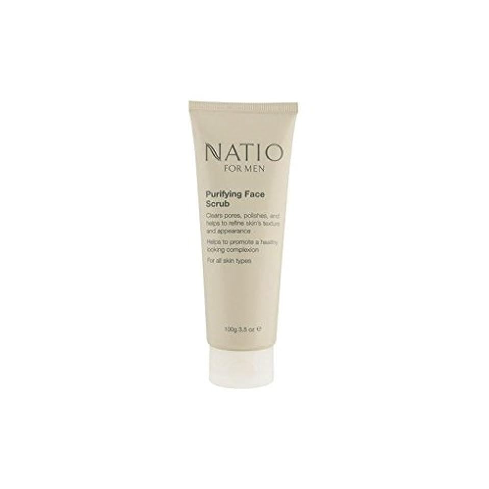 マークされたネブ義務的フェイススクラブを精製する男性のための(100グラム) x4 - Natio For Men Purifying Face Scrub (100G) (Pack of 4) [並行輸入品]