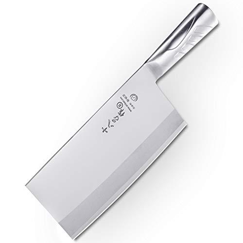 SHI BA ZI ZUO Kitchen Knife 8 Inches Versatile Butcher Cleaver Chopper...