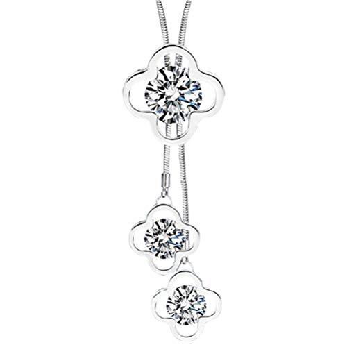 biteri Lange Hängende Halskette Faux Perle Stränge Floral Form Quaste Anhänger Einfache Mode-Accessoires für Frauen