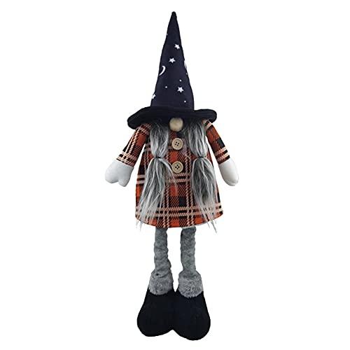 Halloween Gnomes Muñecas De Felpa, Tomtes Escandinavos Hechos a Mano, Dwarfs De Elfo De La Navidad Sueca Con Las Piernas Telescópicas Para La Decoración De Halloween De Navidad