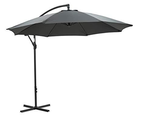 GMD Living Premium Freiarm-Ampel-Sonnenschirm Athene Ø300cm, Farbe:dunkelgrau