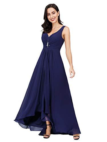 Ever-Pretty Vestito da Festa Donna Corto Davanti Lungo Dietro Blu Navy 54