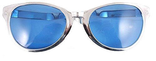 Occhiali da sole da clown commedia Jumbo occhiali da sole Specs Fancy Dress Eyewear [Argento]