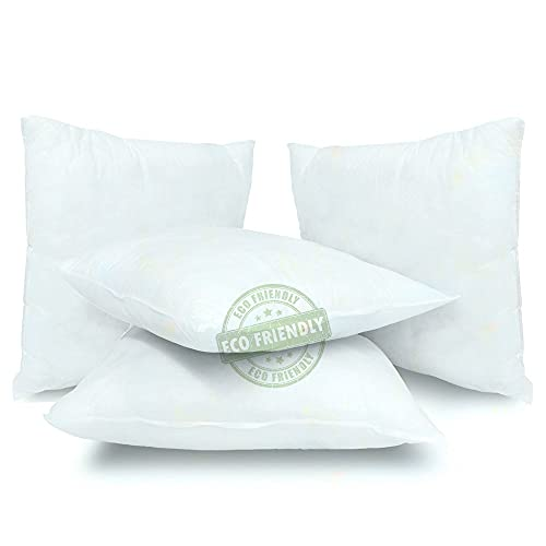 Sanatex Imbottitura cuscini 45x45 Anime Interno Cuscini Imbottitura EcoSostenibile 100% Made In Italy 4 pezzi 45 X 45 Cm