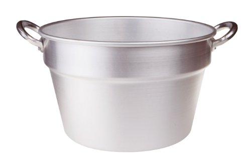 Pentole Agnelli FAMA85S36 Aluminium-Tomatentopf mit 2 Griffen, Süd-Typ (Boiler) (Boiler), Durchmesser 36 cm, 23 Liter, Silber