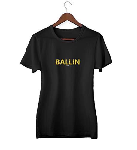KLIMASALES Ballin Goud Parijs Grappig Merk Logo_KK020420 Shirt T-shirt voor Vrouwen - Zwart
