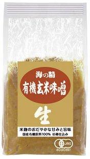海の精 国産有機 麦味噌 1kg×10個 JAN:4931915001829