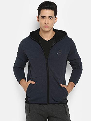 hummel Herren HMLGUY Zip Hood Jacke, Dress Blue Melange, XL