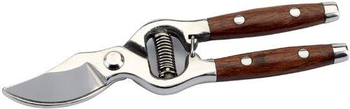 210 mm BYPASS Sécateur PATTERN – Lames en acier inoxydable avec poignées Redwood et loquet de verrouillage. Emballage de Présentation.