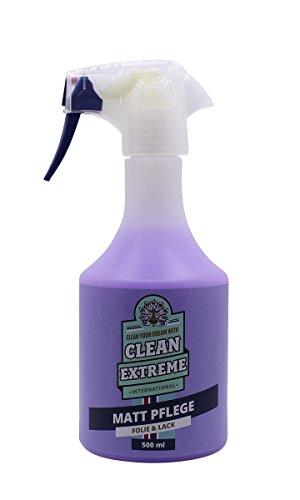CLEANEXTREME Auto Mattlack-Pflege 500 ml - mit Versiegelung: Zum Pflegen von Autolack matt, Matt-Folie, Matter Autosprühfolie. Entfernt Schmutz, Staub, Fingerabdrücke. Waschen ohne Wasser