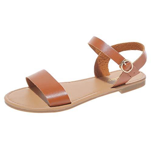 Dasongff zomersandalen, vlak, peep toe, comfortabele damesschoenen, vismouth, zomerschoenen, vrije tijd, zacht, maat 35-43