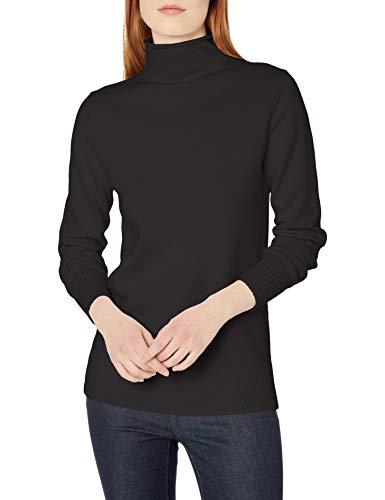 Amazon Essentials Long-Sleeve 100{993c6ff55ceb18eb6a02868daffb669b3aa5f377d5885aeea141f32f63ae31a7} Cotton Roll Neck Sweater Pullover, Schwarz, M