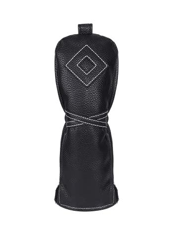 Izzo Unisex-Erwachsene Premium Driver Headcover Golfschlägerhaube, schwarz