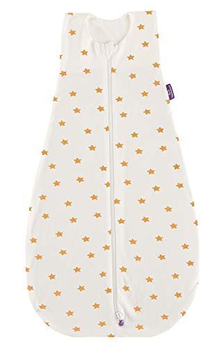 Träumeland S0300507 - Saco de Dormir de Verano (110 cm, sin blanqueadores ópticos, 250 g), diseño de Estrellas, Multicolor
