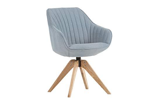 Gutmann Limited Sessel Chill Stoff Massivholz Natur Wohnzimmer Esszimmer (327/13 - Grau)