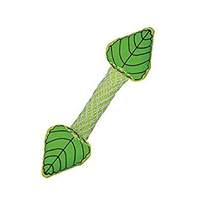 a green stick with two mint leaf shaped ends