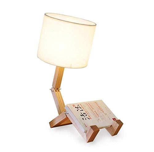 Decoración de muebles Luces de lavado de pared Lámparas Lámparas de pared Aplique Lámpara de mesa de tela Dibujos animados nórdicos Personalidad Mesita de noche Madera maciza Lámpara de mesa humana