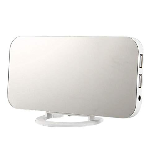 FPRW Despertador de Pantalla Grande, Imagen de Carga Creativa para teléfono móvil Reloj electrónico de cabecera, Despertador con Pantalla LED