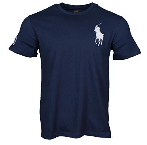 Ralph Lauren - Maglietta da uomo con Big Pony, colore: blu navy, bianco, grigio, rosa, azzurro, pistacchio blu navy XS