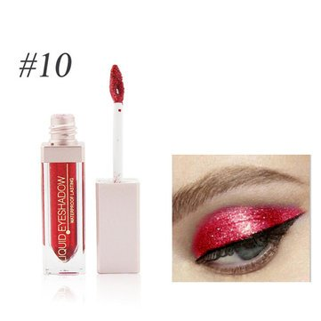 EgBert Glitter Liquid Eyeshadow Shimmer Maskerade Lidschatten Make-Up Wasserdichtes Pigment Nude- 10