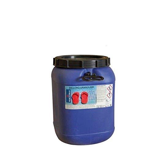 Lapi - Secchio 25 kg Dicloro Granulare 56% A Rapida Dissoluzione per Il Mantenimento dell'Acqua Piscina - Cloro per Acqua Piscina Prodotto da Azienda Italiana certificata