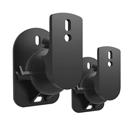 LIOOBO 1 Paar Lautsprecher Wandhalterung Surround Sound Wandhalterungen Halter Ständer (Schwarz)