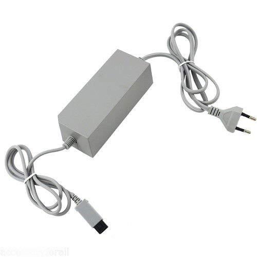 CHILDMORY Adaptador de alimentación de CA Cable enchufe Cabl Alimentacion de la UE para consola Wii