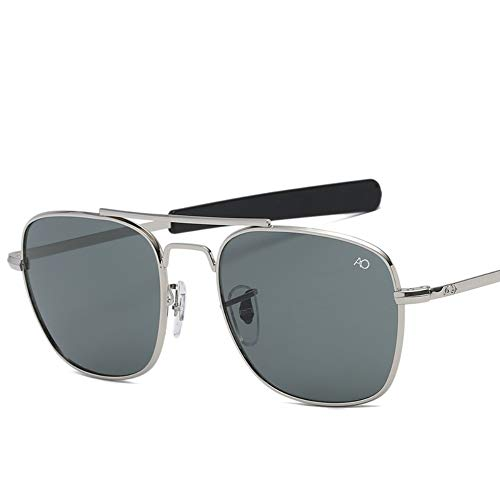 2THTHT2 Moda Gafas De Sol De Aviación para Hombres Diseñador De Marca De Lujo Gafas De Sol para Hombres Ejército Americano Lente De Vidrio Óptico Militar