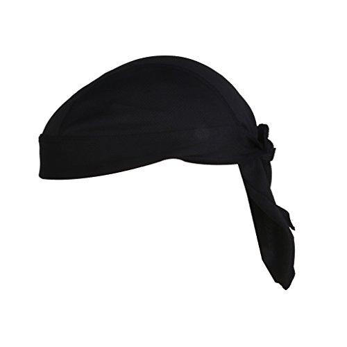 magideal Polyester Bandana, chapeau de cyclisme, noir