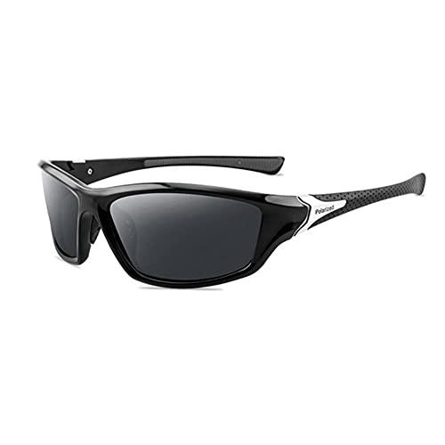 DovSnnx Unisex Polarizadas Gafas De Sol 100% Protección UV400 Sunglasses para Hombre Y Mujer Gafas De Aviador Gafas De Ciclismo Ultraligero Deportes Negro