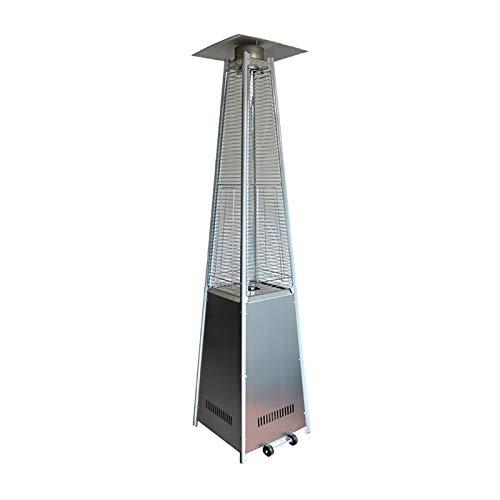 CIKO Calentador Patio A Gas para Exterior | Jardín, Terraza, Barbacoa | Estufa Piramidal Al Propano - 13kw 丨 Ruedas, Regulador Y Manguera