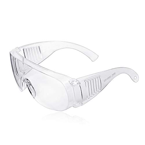Gafas de Seguridad, ZHIKE Clear Anti-Fog and Scratch Reduction Goggle para Trabajo y Deporte, Hombres, Mujeres (2 PCS)