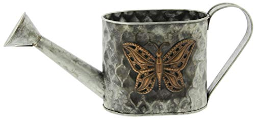 Rustic Decorative Butterfly Watering Can Planter