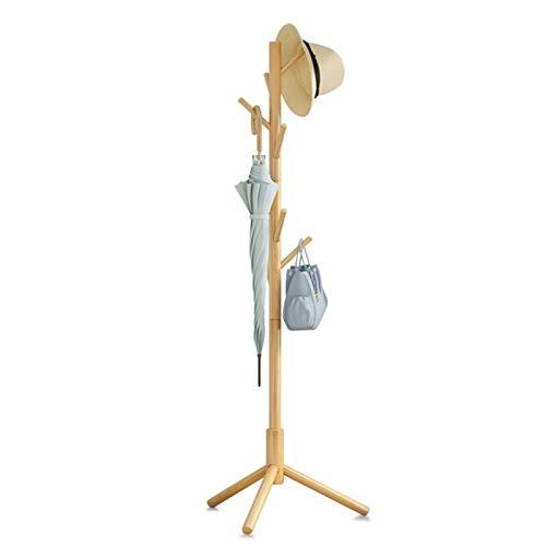 FEANG Perchero de Pie Pastel de Madera de Cubierta de Madera, árbol de Abrigo de vestíbulo, árbol de Abrigo con 8 Ganchos, para Ropa de hogar u Oficina, Bufandas Perchero para Abrigos (Color : A)