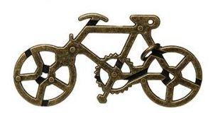GICO Geduldspiel Metallknobelspiel Fahrrad Puzzle Metallpuzzle Geschenk Biker Radfahrer