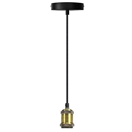 DoRight E27 Vintage Portalámparas de Techo Lámpara de Techo Estilo Clásico con Casquillo E27 Longitud Máxima 100cm Ajustable para Cocina Comedor