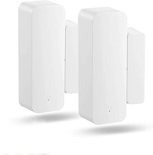 Wi-Fi Door Sensor Smart Window Sensors 2 Pack, No Hub Required, Requires 2.4 GHz Wi-Fi Compatible with Alexa Google Assistant Home Security