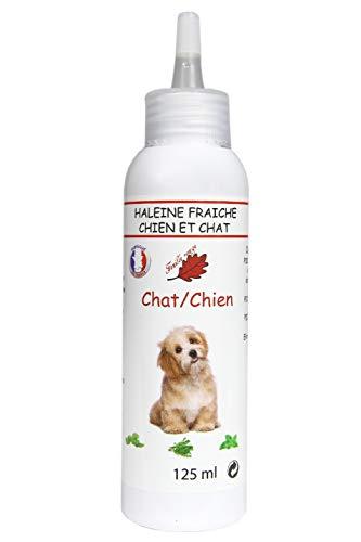 Feuille rouge - Gel Bonne haleine pour Chien et Chat. - Dentifrice Chien - 125 ML.
