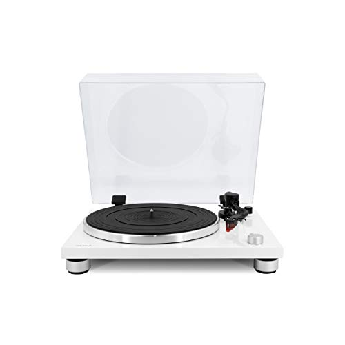sonoro Platinum - Tocadiscos con preamplificador Phono, USB y Bluetooth (transmisión por correa, Ortofon 2M Red, convertidor A/D, función de costilla), color blanco