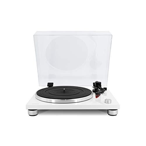 sonoro Platinum Plattenspieler mit Phono-Vorverstärker, USB & Bluetooth (Riemenantrieb, Ortofon 2M Red, A/D Wandler, Ripping-Funktion) Weiß