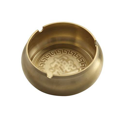 xuejuanshop Cenicero de Regalo Cenicero Retro Personalizado Estilo Chino Cenicero de Cobre Puro Accesorios de Juego de té for el hogar Cenicero casero