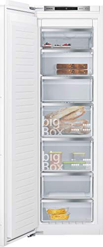 Siemens GI81NACF0 iQ500 - Congelador empotrado (294 kWh/año, 212 l, sin congelación, caja grande, puerta de cierre suave)