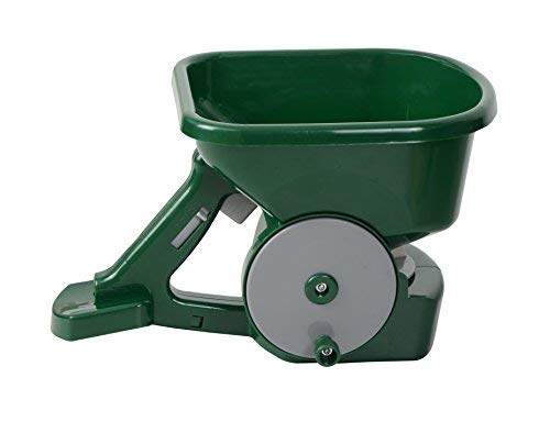 Greenkey Deluxe Seed and Fertiliser Spreader, Green, 30x20x20 cm