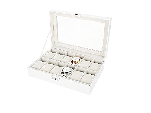 Caja Para Relojes Para 12 Relojes, Reloj Caja, Guarda/estuche Para Relojes, Organizador De Relojes Para Organizadora Y Exhibición, Cuero De PU