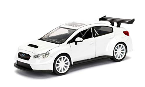 Jada Toys- Subaru WRX STI-Fast and Furious 81:24, Color Blanco
